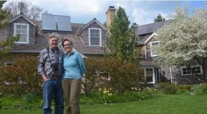 The Drucker Family is believed to be one of the first families in Wilmette to install solar panels